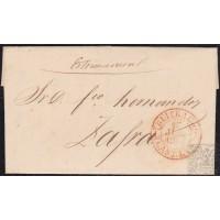 1847. ESPAÑA. SPAIN. LA VELILLA A ZAFRA. FECHADOR BUITRAGO Nº 4 EN ROJO. SIN PORTEAR. MUY BONITO Y RARO.