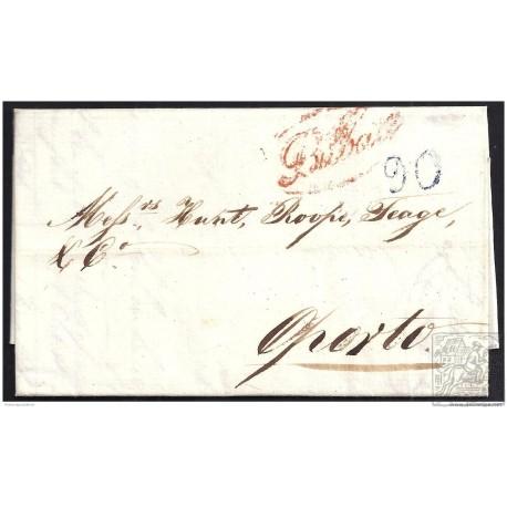 1842. ESPAÑA. SPAIN. BILBAO A PORTUGAL.