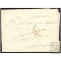 S/F. CIRCA 1832. ESPAÑA. SPAIN. OVIEDO A ABALCISQUETA.