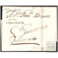 1813. ESPAÑA. SPAIN. SAN SEBASTIAN A LEQUEITIO.