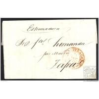 1846. ESPAÑA. SPAIN. BUITRAGO A ZAFRA.