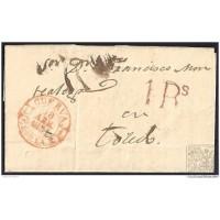 1851. ESPAÑA. SPAIN. CUERVA A TOLEDO.