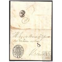 S/F. 1834. ESPAÑA. SPAIN. A LA HABANA. ENVUELTA.