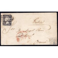 EMISIONES CLASICAS. ED. 1. 1850. ESPAÑA. SPAIN. MADRID A ORENSE.