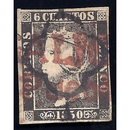 EMISIONES CLASICAS. ED. 1A. 1850. ESPAÑA. SPAIN. 6 CUARTOS.