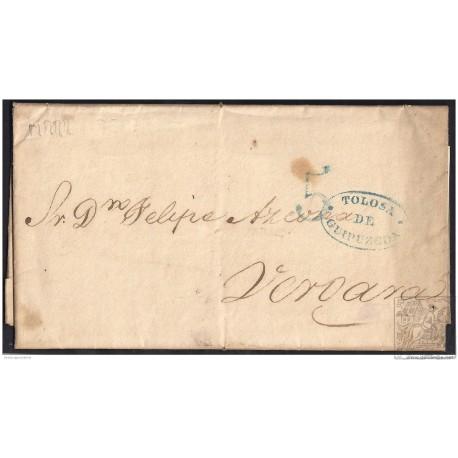 1840. ESPAÑA. SPAIN. BURDEOS A VERGARA.