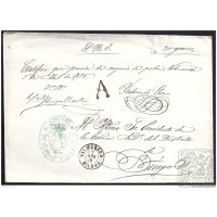 1878. ESPAÑA. SPAIN. VALMASEDA A BURGOS.