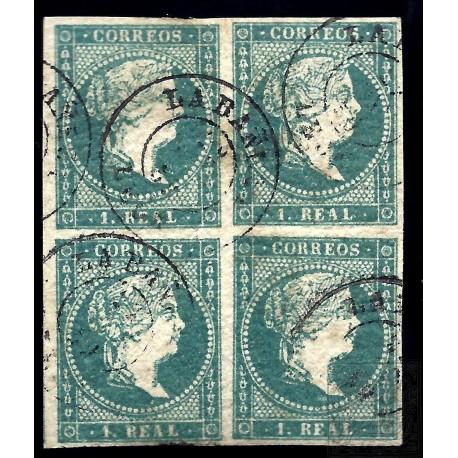 EMISIONES CLASICAS. 45 (4). 1859. ESPAÑA. SPAIN. 1 REAL.
