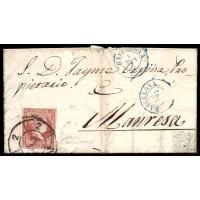 EMISIONES CLASICAS. ED. 48. 1858. ESPAÑA. SPAIN. BARCELONA A MANRESA. 4 CUARTOS.