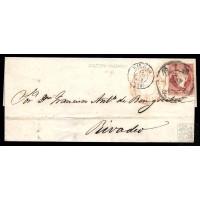 EMISIONES CLASICAS. ED. 48. 1859. ESPAÑA. SPAIN. CASTROURDIALES A RIVADEO. 4 CUARTOS.