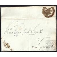 EJERCITOS FRANCESES. NAPOLEON. 1812. ESPAÑA. SPAIN. ZARAGOZA. CORREO INTERIOR.