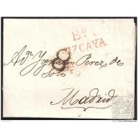 1821. ESPAÑA. SPAIN. BILBAO A MADRID.