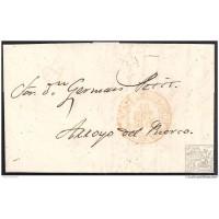 1849. ESPAÑA. SPAIN. ALBUQUERQUE A ARROYO DEL PUERCO.