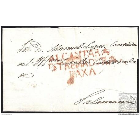 1839. ESPAÑA. SPAIN. ALCANTARA A SALAMANCA.