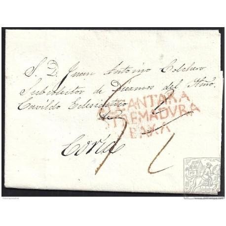 1837. ESPAÑA. SPAIN. ALCANTARA A CORIA.