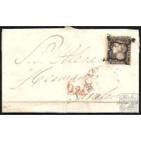 EMISIONES CLASICAS. ED. 58. 1850. ESPAÑA. SPAIN. LORCA A BARCELONA. 6 CUARTOS.