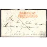 1838. ESPAÑA.S PAIN. BADAJOZ A JEREZ DE LOS CABALLEROS.