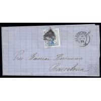 EMISIONES CLASICAS. ED. 119. 1872. ESPAÑA. SPAIN. VALLADOLID A BARCELONA. 6 CTS.