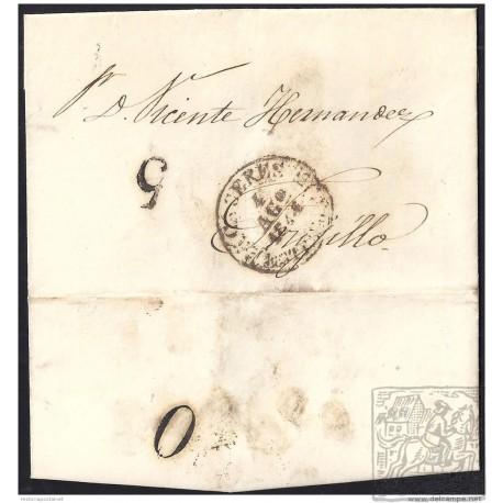 1844. ESPAÑA. SPAIN. CACERES A TRUJILLO.