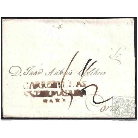 1834. ESPAÑA. SPAIN. GARROVILLAS A CORIA.