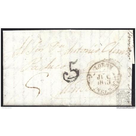 1845. ESPAÑA. SPAIN. LOBON A MERIDA.
