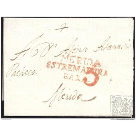 1806. ESPAÑA. SPAIN. LOBON A MERIDA.