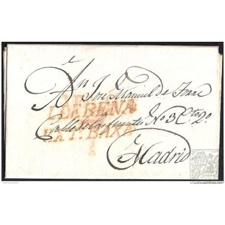 1832. ESPAÑA. SPAIN. LLERENA A MADRID.