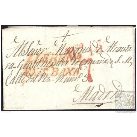 1833. ESPAÑA. SPAIN. VALENCIA DE LAS TORRES A MADRID.