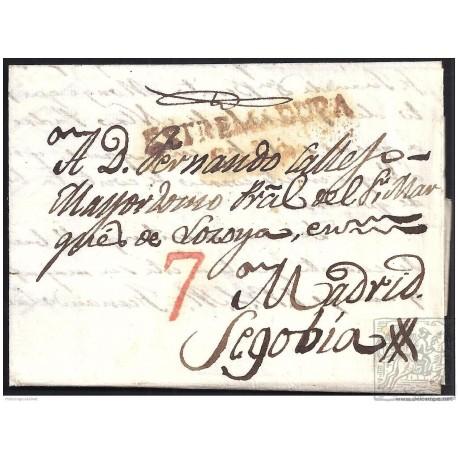 1838. ESPAÑA. SPAIN. MIAJADAS A SEGOVIA.