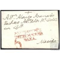 1807. ESPAÑA. SPAIN. MONTANCHEZ A MERIDA.