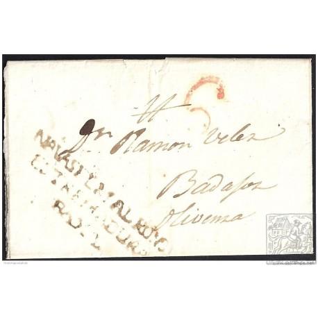 1841. ESPAÑA. SPAIN. NAVAS DEL MADROÑO A OLIVENZA.