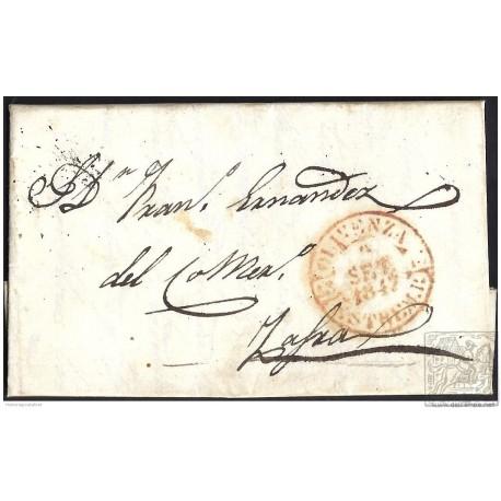1847. ESPAÑA. SPAIN. OLIVENZA A ZAFRA.