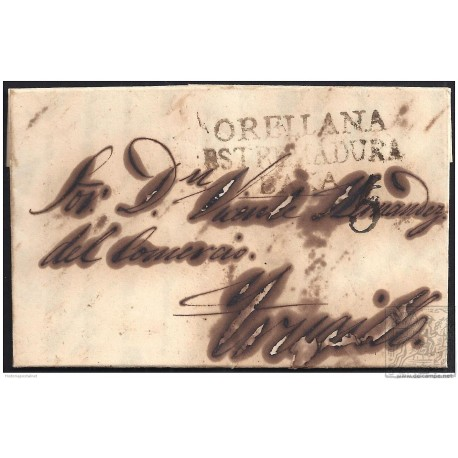 1849. ESPAÑA. SPAIN. ORELLANA A TRUJILLO.