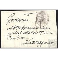 CIRCA 1800. S/F. ESPAÑA. SPAIN. MADRID A ZARAGOZA. ENVUELTA.
