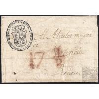 CIRCA 1820. S/F. ESPAÑA. SPAIN. MADRID A RELLEU. ENVUELTA.