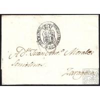 CIRCA 1830. S/F. ESPAÑA. SPAIN. A ZARAGOZA. ENVUELTA.