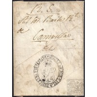 CIRCA 1830. S/F. ESPAÑA. SPAIN. A CAMPELLAS. ENVUELTA.