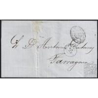1861. ESPAÑA. SPAIN. MADRID A TARRAGONA.