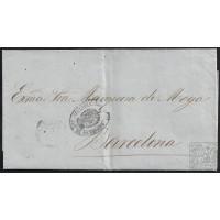 1862. ESPAÑA. SPAIN. MADRID A BARCELONA.