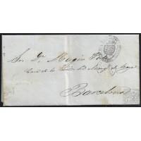 1863. ESPAÑA. SPAIN. MADRID A BARCELONA.
