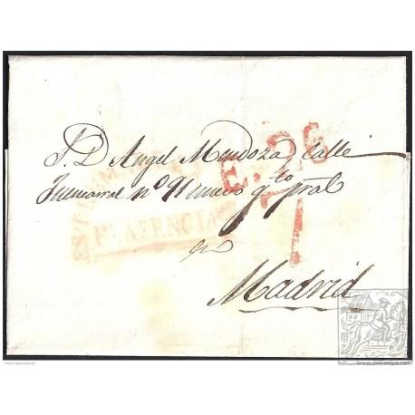 1841. ESPAÑA. SPAIN. PLASENCIA A MADRID.