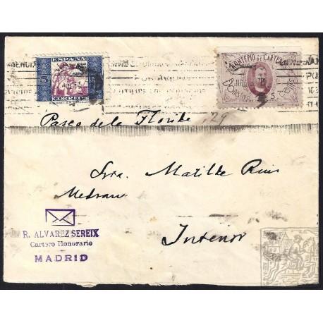 1937. ESPAÑA. SPAIN. MADRID. CORREO INTERIOR.
