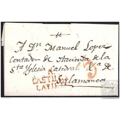 1819. ESPAÑA. SPAIN. ALAEJOS A SALAMANCA.