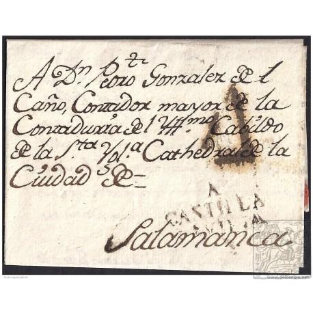 1803. ESPAÑA. SPAIN. ALAEJOS A SALAMANCA.