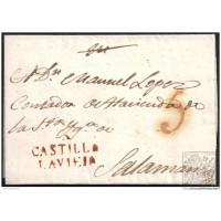 1820. ESPAÑA. SPAIN. ALAEJOS A SALAMANCA.