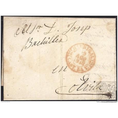 1848. ESPAÑA. SPAIN. RASUEROS A AVILA.