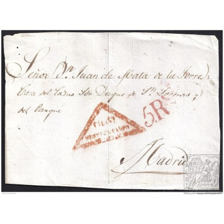 CIRCA 1830. ESPAÑA. SPAIN. MEDINA DEL CAMPO A MADRID.
