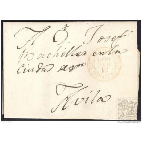 1849. ESPAÑA. SPAIN. OLMEDO A AVILA.