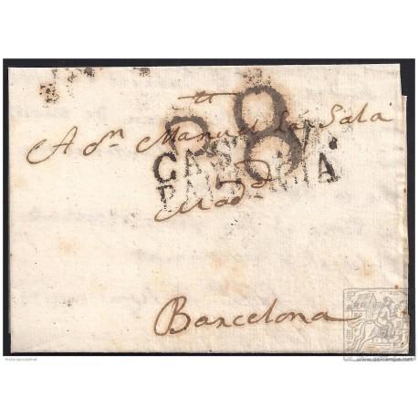 1804. ESPAÑA. SPAIN. PALENCIA A BARCELONA.