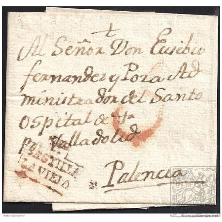 1820. ESPAÑA. SPAIN. ROA A PALENCIA.